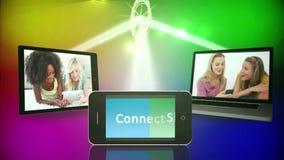 Ogólnospołeczni środki i przyjaźń montaż zdjęcie wideo