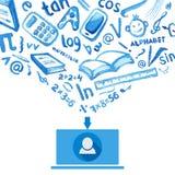 Ogólnospołeczni środki, komunikacja w globalnych sieciach komputerowych Zdjęcie Royalty Free
