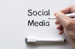 Ogólnospołeczni środki pisać na whiteboard Zdjęcie Stock
