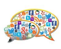 Ogólnospołeczni środki, sieci ikony/ Zdjęcia Royalty Free