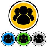 Ogólnospołeczni środki, społeczność, ludzie ikon obrazy stock