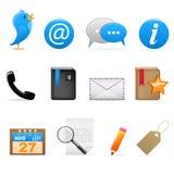 ogólnospołeczni ikona środki Zdjęcie Stock