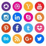 Ogólnospołeczni medialni ikony kolekci guziki royalty ilustracja