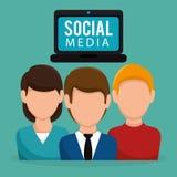 Ogólnospołeczni medialni społeczność charaktery ilustracja wektor