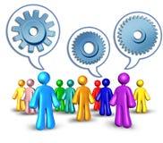 ogólnospołeczni networking skierowania ilustracja wektor