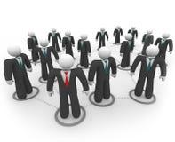 ogólnospołeczni sieci biznesowi ludzie ilustracji