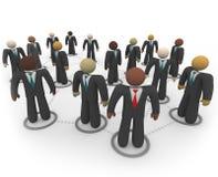 ogólnospołeczni sieci biznesowi różnorodni ludzie ilustracja wektor