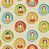 Ogólnospołeczni sieci użytkowników ludzie wzoru ilustracji