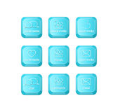 Ogólnospołeczny środka klucz z dwa mowa bąbla znakiem na klawiaturze Zdjęcie Stock