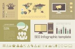 Ogólnospołeczny Medialny Infographic szablon Zdjęcie Stock
