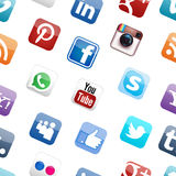 Ogólnospołeczny medialny loga tło Fotografia Stock