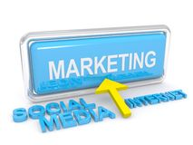 Ogólnospołeczny medialny marketing royalty ilustracja
