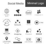 Ogólnospołeczny medialny minimalny logo royalty ilustracja