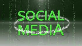 Ogólnospołeczny medialny networking_connection backgorund HD 1080 royalty ilustracja
