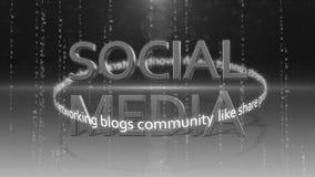Ogólnospołeczny medialny networking_connection backgorund HD 1080 ilustracja wektor