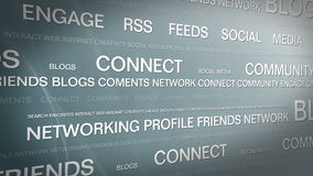 Ogólnospołeczny medialny networking_connection backgorund 4K royalty ilustracja