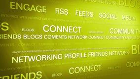 Ogólnospołeczny medialny networking_connection backgorund 4K ilustracja wektor