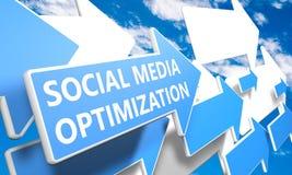 Ogólnospołeczny Medialny optymalizacja ilustracja wektor