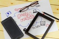Ogólnospołeczny medialny pojęcie Zdjęcia Stock
