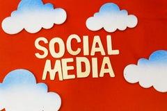 Ogólnospołeczny medialny pojęcie Zdjęcie Royalty Free