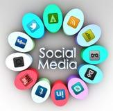 Ogólnospołeczny medialny pojęcie Fotografia Stock