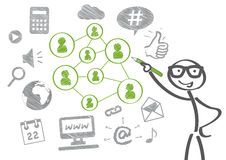 Ogólnospołeczny medialny pojęcie ilustracja wektor