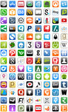 Ogólnospołeczny Medialny sieć guzików guzika set royalty ilustracja