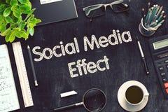 Ogólnospołeczny Medialny skutek na Czarnym Chalkboard świadczenia 3 d ilustracji