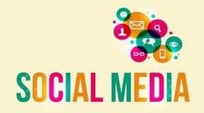 Ogólnospołeczny medialny tło ilustracji