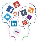 Ogólnospołeczny medialny tło royalty ilustracja