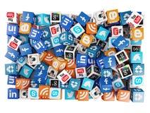Ogólnospołeczny medialny tło Obrazy Stock