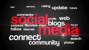 Ogólnospołeczny medialny tło tekst 4K bezbarwny ilustracja wektor