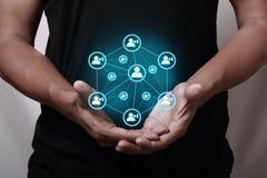 Ogólnospołeczny networking Zdjęcia Stock