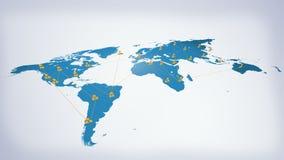 Ogólnospołeczny networking Dookoła Świata Fotografia Royalty Free
