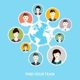 Ogólnospołeczny networking i Ogólnospołeczni środki ilustracja wektor