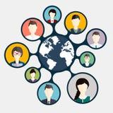 Ogólnospołeczny networking i Ogólnospołeczny Medialny avatar ilustracji