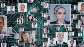 Ogólnospołeczny networking interfejs royalty ilustracja