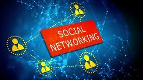 Ogólnospołeczny networking technologii pojęcie ilustracja wektor