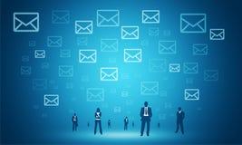 Ogólnospołeczny poczta biznesowego związku półdupków tło Zdjęcie Stock
