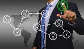 Ogólnospołeczny sieć interfejsu pojęcie Fotografia Stock