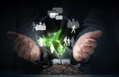 Ogólnospołeczny sieć temat Obraz Stock