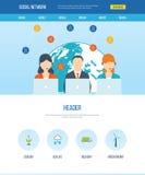 Ogólnospołeczny sieci i pracy zespołowej pojęcie royalty ilustracja