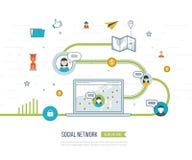 Ogólnospołeczny sieci i pracy zespołowej pojęcie Zarządzanie inwestycyjne royalty ilustracja