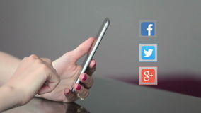 Ogólnospołeczny sieci ikon smartphone zbiory wideo