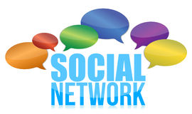 Ogólnospołeczny sieci pojęcie Obrazy Stock