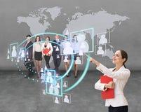 Ogólnospołeczna sieci struktura Obrazy Stock