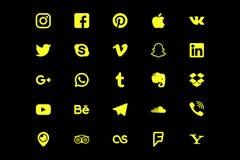 Ogólnospołeczne Medialne ikony 2 Zdjęcia Royalty Free