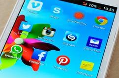 Ogólnospołeczne medialne ikony Fotografia Royalty Free