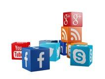Ogólnospołeczne medialne ikony Obraz Royalty Free