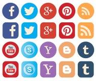 Ogólnospołeczne medialne ikony Zdjęcie Royalty Free
